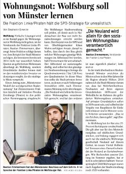 Wohnungsnot: Wolfsburg soll von Münster lernen