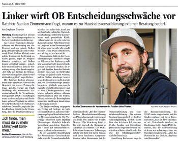 Linken-Ratsherr wirft Klaus Mohrs Entscheidungsschwäche vor (Wolfsburger Nachrichten)